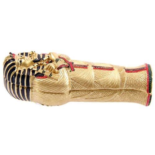 Gold Egyptian Tutankhamen Sarcophagus Trinket Box with Mummy